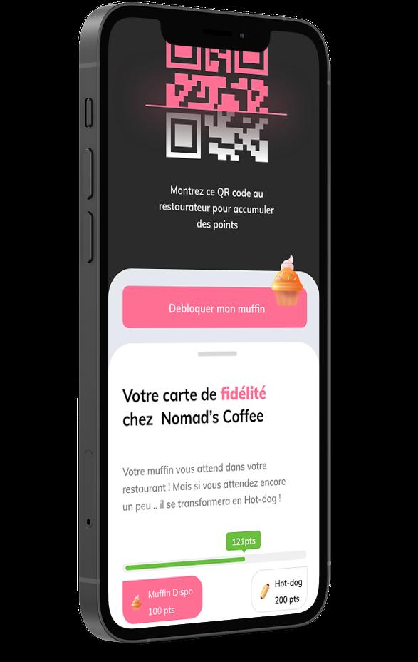 Carte de fidélité digitale restaurant Obypay