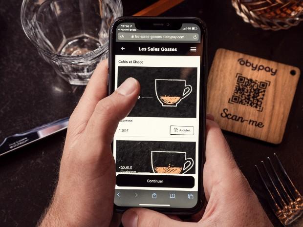 Finis les cartes imprimées avec le menu QR Code Obypay