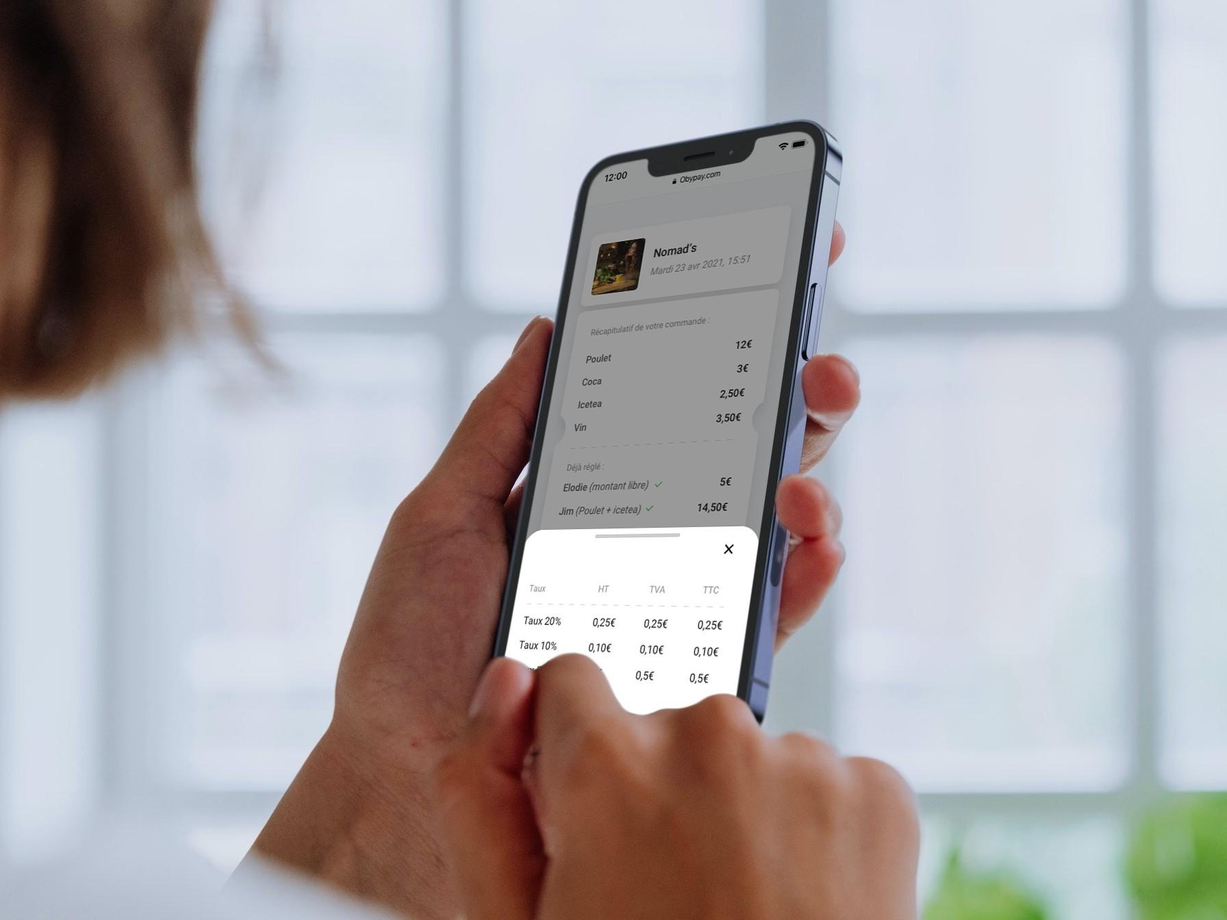 Le paiement de l'addition par smartphone vous fait gagner 15 minutes par service
